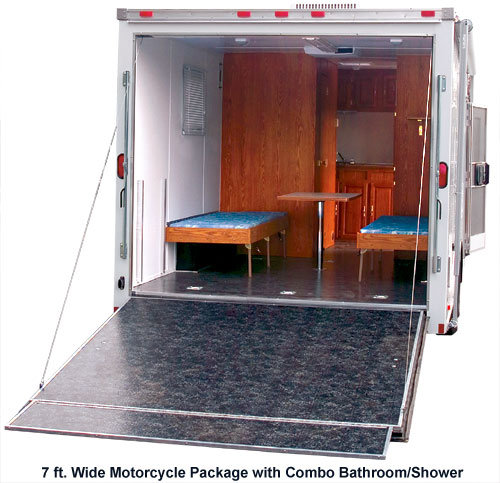 Motorcycle Trailer With Living Quarters Continental Cargo